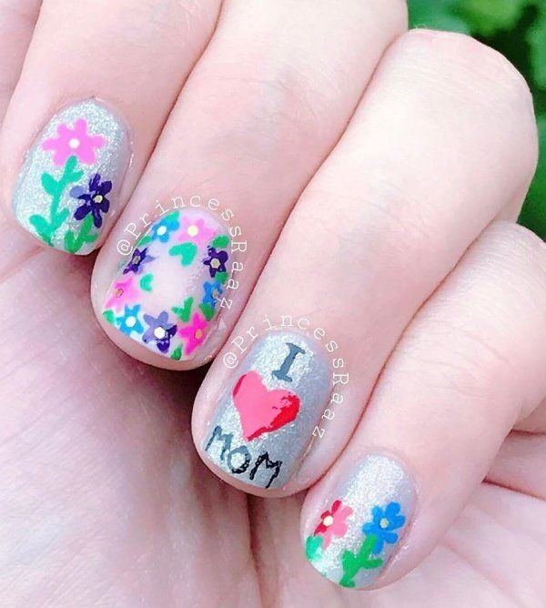 20 Best Mother S Day Nail Art Ideas To Make Your Mom Feel Special Hike N Dip Nail Art Designs Easy Nail Designs Summer Tattoos For Daughters