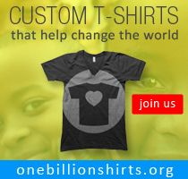 OneBillionShirts.org is leveraging the billion dollar custom tee shirt industry to create a brand new fundraising stream for charity and nonprofit organizations. Read the compelling story behind OBS on the Selfish Giving blog: http://www.selfishgiving.com/cause-marketing-in-action/from-kosovo-to-america-this-causepreneur-wears-his-heart-on-a-tee