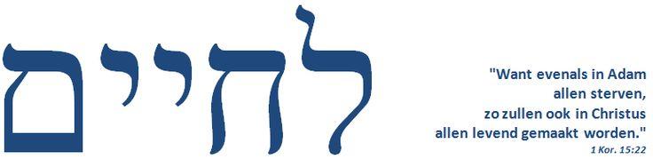 """…het evangelie der heerlijkheid van de zalige God (1Timoteüs 1:11) - Genade,  verzoening,  rechtvaardiging - """"Want uit Hem en door Hem en tot Hem zijn alle dingen"""" (Romeinen 11: 36) """"…, opdat God zij alles in allen"""" (1 Korintiërs 15: 28) http://www.bloggen.be/lechaim/"""