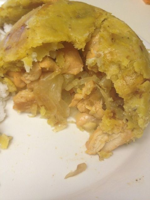 How to Make Puerto Rican Garlic Chicken Stuffed Mofongo Recipe