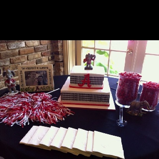 bama grooms cake tasteful arrangement