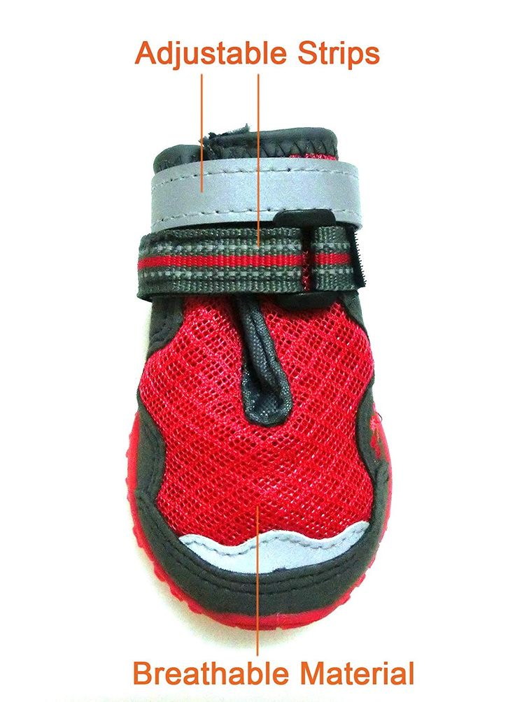 xanday breathable dog boots mesh dog shoes paw protectors reflective adjustable