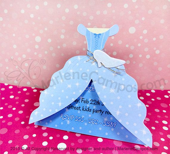 Cinderella Invitation Inspired - Cinderella dress - Printable Invitation - Personalized Invitation - Paper Art by Marlene Campos