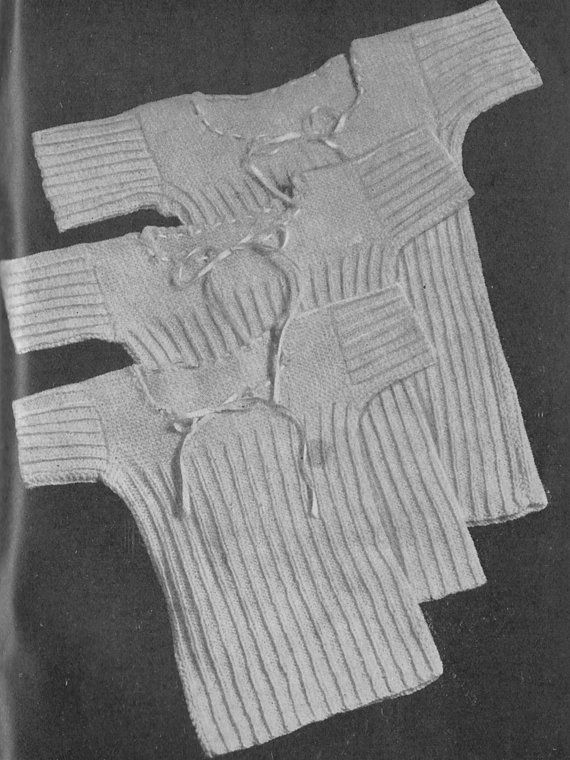 Hey, I found this really awesome Etsy listing at https://www.etsy.com/listing/232044294/vintage-1943-knitting-pattern-babies