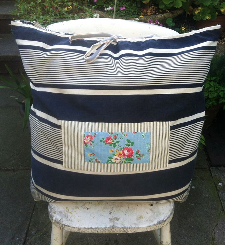 Vintage Cushion , Dark Blue / Cream Striped Vintage French Ticking Cushion with Floral and Cream Linen Applique, Very large and comfy!  Handmade item Materials: Linen, French Vintage Ticking, French vintage Floral, Floral, Vintage stripe, Cotton, Vintage cotton, Linen Ribbon, Blue Stripe Ticking, Vintage Linen, Linen tablecloth Fabric. https://www.etsy.com/uk/listing/205153914/vintage-cushion-dark-blue-cream-striped?ref=shop_home_active_6