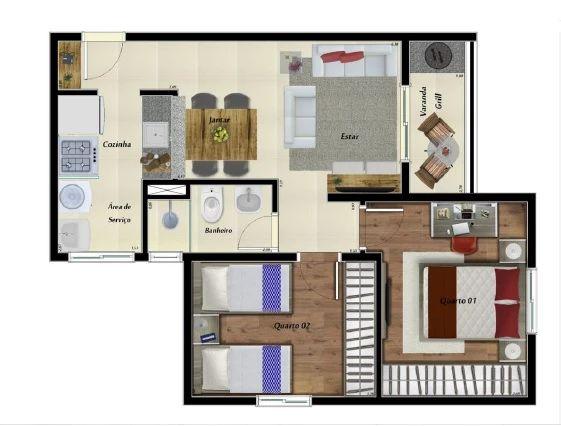 Planta Apartamento 50m²