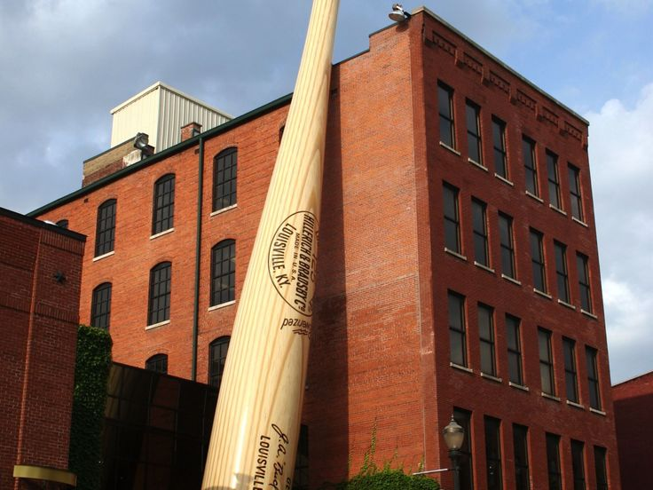 The Louisville Slugger baseball bat hails from Kentucky, and visitors can tour the family-owned factory where these famous bats continue to be manufactured. The Louisville Slugger Museum & Factory is one of nine attractions that make up Louisville's Museum Row on Main.