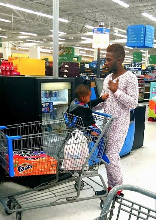 Time To Put Daddy to Bed... Pajamas at Walmart - Funny Pictures at Walmart -Another proud child. Unbelievable so called parenting fails. ...