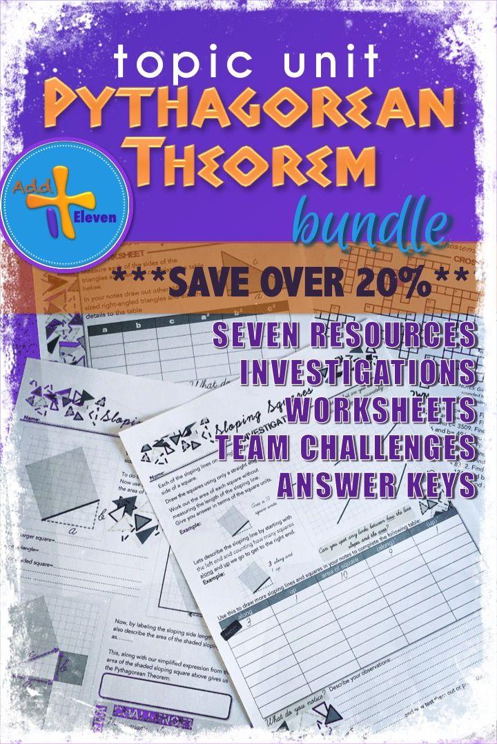 Bundle of Pythagorean Theorem Resources