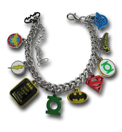 Images of DC Comics Hero Charm Bracelet