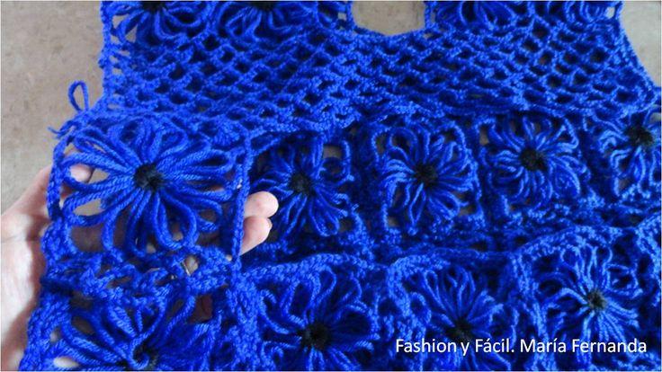 Fashion y f cil diy tutorial de c mo hacer un chaleco con - Como hacer flores de ganchillo ...