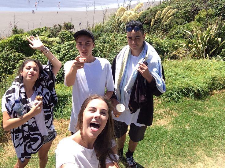 Raglan beach with my matesss