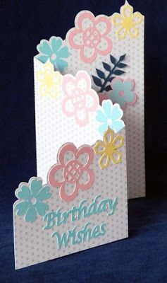 Shirley's Cards FREE STUDIO SVG floral zig zag card