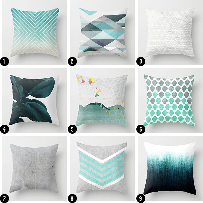 Turquoise Living Room Pillows