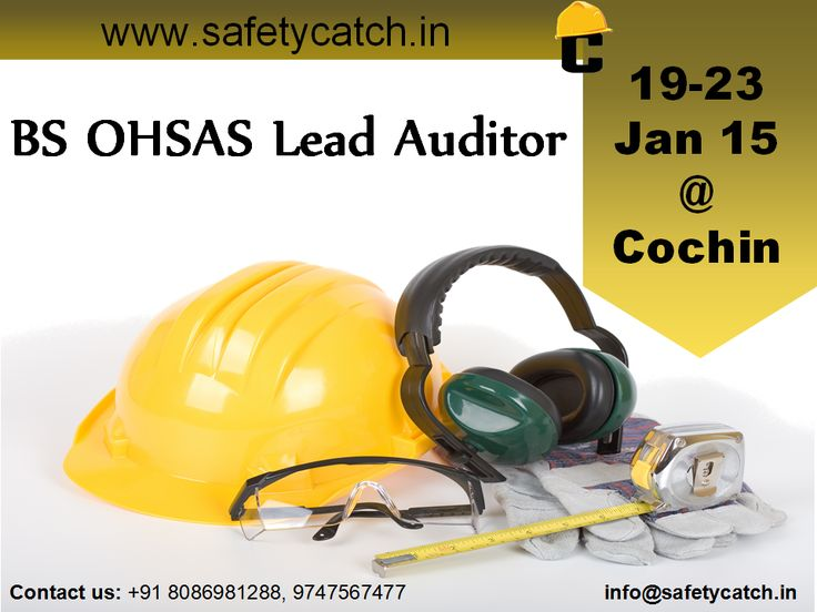 Hurry Register Now! For Online Registration: http://bit.ly/1rO8VEz Contact us for Details: http://bit.ly/1nSPybO  #safetytraining #OHSAStraining #OHSAS #safetytraininginIndia #safetycatch