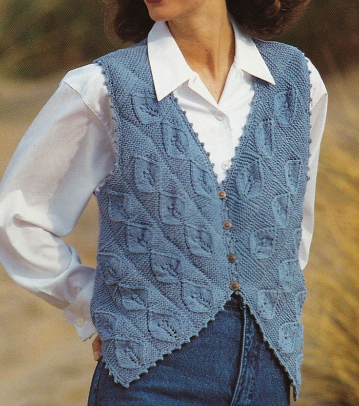 Vintage Knitting Pattern Original Instructions to Make Ladies Waistcoat
