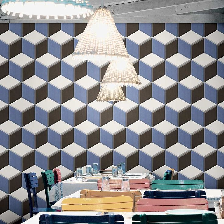 Geometric designs are very prominent in the world of interior design. Use them to create a feature wall or statement floor!