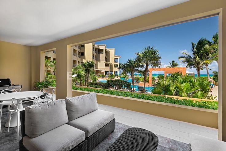 Terrace, Beachfront Vacation Rental Condo Playa del Carmen