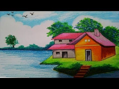 How To Draw A Beautiful House Step By Step Youtube Ginny