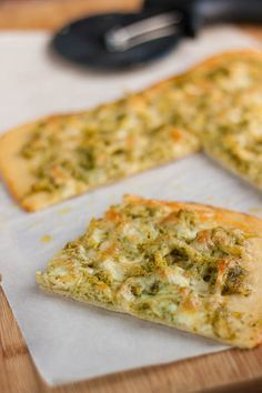 Pesto Chicken Pizza. This was really simple and delicious. I used a Wegmans pre-made pizza crust, and probably used more pesto than called for. I used all mozzarella cheese. Easy weeknight dinner!