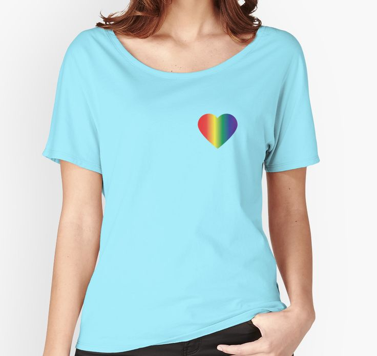 Show your support for the LGBT community and wear the love of pride over your heart! Womens Fashion Tshirt