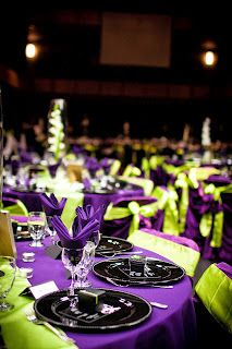 Purple And Green Decor