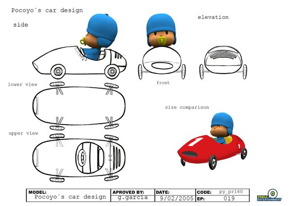 POCOYO: Animation, Visual Dev., 2D Design by Pedro Bascon, via Behance