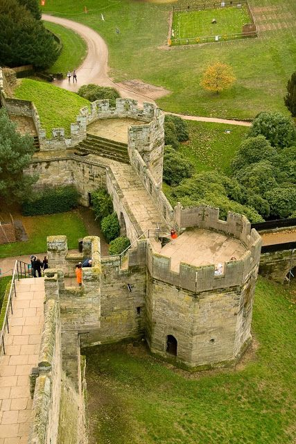 Warwick Castle, Warwick, England.  4 important  families in succession in English history - the Beauchamps. Nevilles, Dudleys and Grevilles have owned the castle as earls of Warwick.