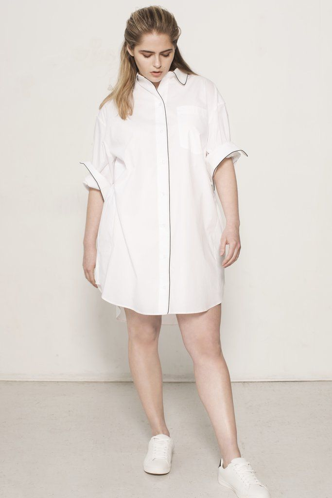b89fd726942881 Essential Tunic Shirt - Tech White | Shop See Rose Go | Tunic shirt ...