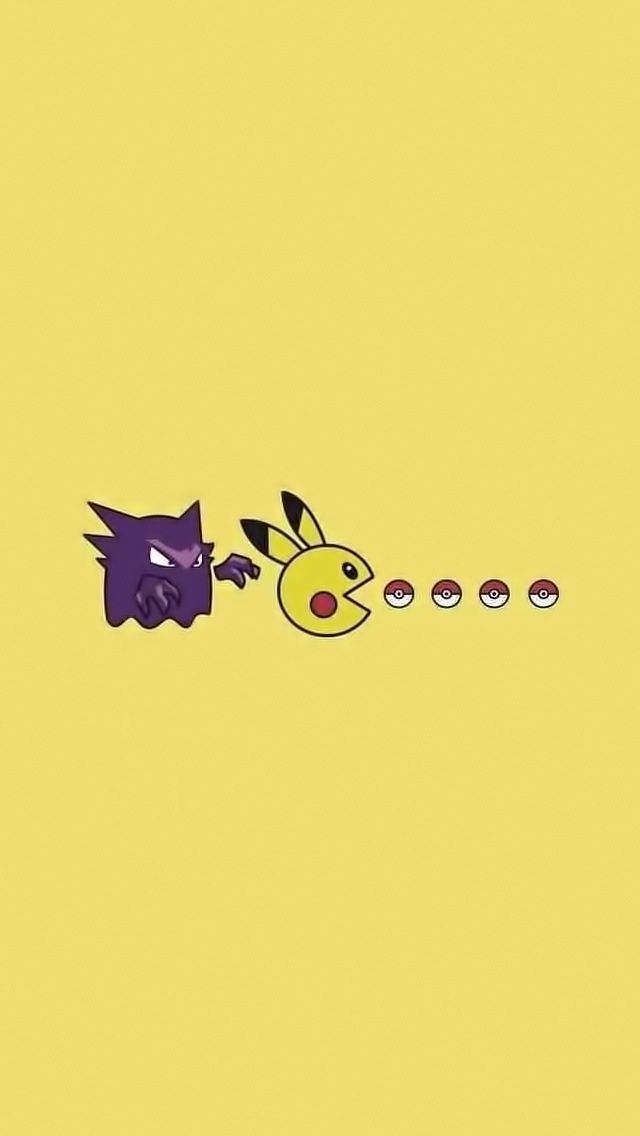 Pikachu Pacman // Tap to see more Pikachu iPhone Wallpapers - @mobile9 #pokemon #anime #funny