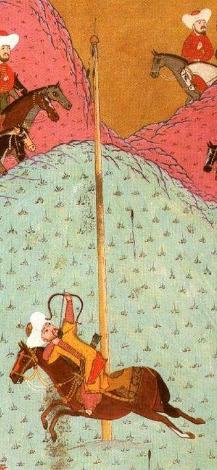 Sultan Murad II at archery practice