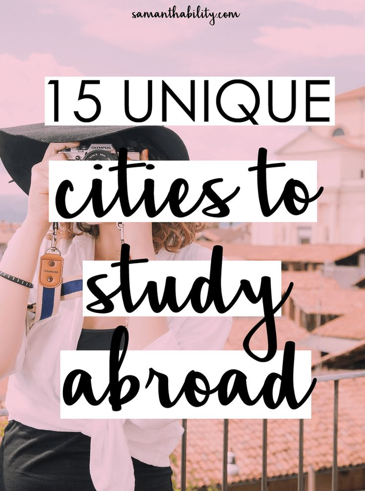 The top 15 unique cities to study abroad in college! Don't settle for boring when you can step outside of your comfort zone with these unique destinations!