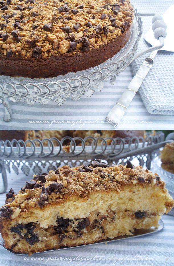 Bizcocho de canela, frutos secos y pepitas de chocolate (coffee cake) / http://www.pasenydegusten.com/