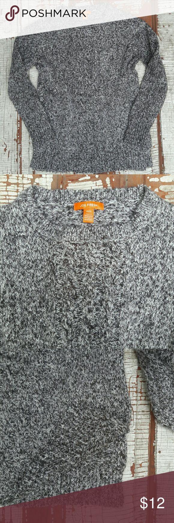 "Joe Fresh knit long sweater Brown medium Joe Fresh long knit sweater with slits up the side.   Shoulders- 19"" Bust-20"" Length- 27"" Arm Inseam-19"" Joe Fresh Sweaters"
