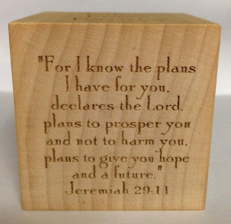 Personalized Baptism Block Engraved Wooden Block