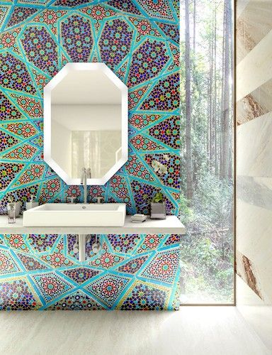 find this pin and more on bathroom design - Mosaic Bathroom Designs