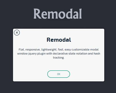 Remodal – Flat and Responsive jQuery Modal Plugin  #jQuery #responsive #flat #modal #window #lightweight