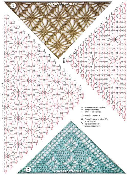 Omslagdoek poncho pattern crochet