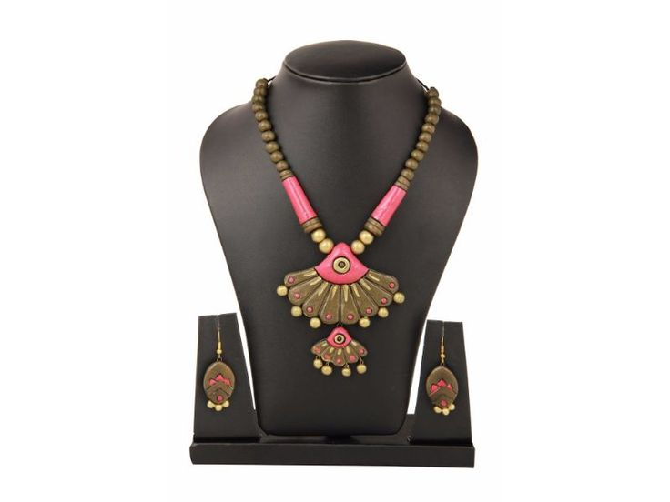 Sudhacreations Terracotta Necklace set - SU453 - AB23900007