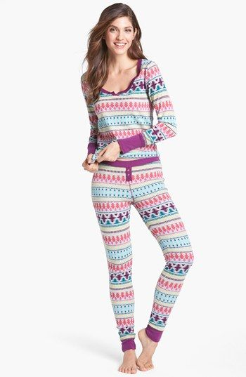 Steve Madden 'Cozy Up' Printed Thermal Set | Nordstrom Cute Thermals!