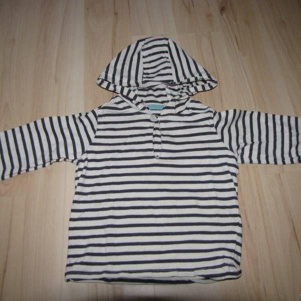 Pruhované bílo-černé tričko zn. Vertbaudet vel. 86 z bazaru