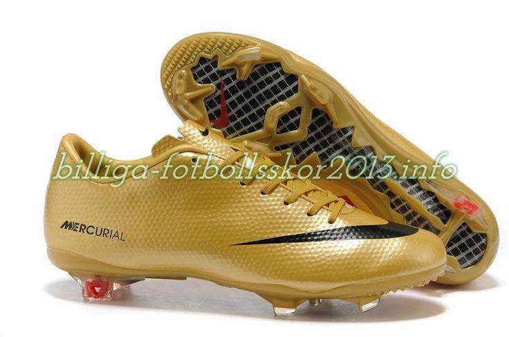 Billiga fotbollsskor 2013 Nike Mercurial Vapor Superfly IX FG CR guld svart