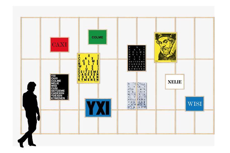 Vanhalla suomen kielellä leikittelyä ideana esim. kuvistyöhön.   Homage to Mikael Agricola design posters. Design: Tony Eräpuro