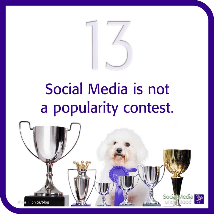 Social Media is not a popularity contest. An account with 1000 followers may not be as engaging than an account with just 500 followers. Quality > Quantity. Download the 3H eBook Social Media Understood: http://3h.ca/ebook_social_media.php