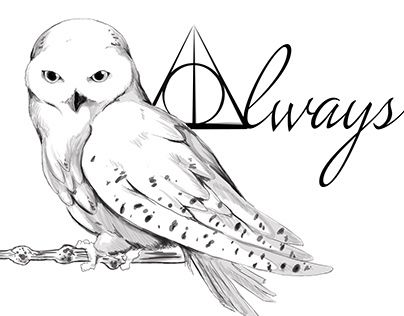 A tattoo design for a friend, based on Hedwig from Harry Potter