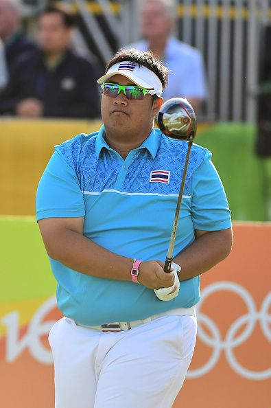#RIO2016 Thailand's Kiradech Aphibarnrat competes in the men's individual stroke play at the Olympic Golf course during the Rio 2016 Olympic Games in Rio de...