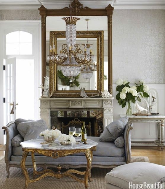 Family Living Room French Country
