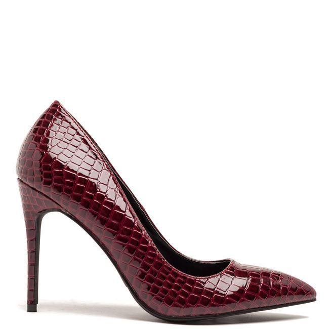 Μπορντώ snakeskin γόβα Migato Χειμώνας 2017 - http://www.new-shoes.gr/designers-brands/goves-migato-winter-2017-987
