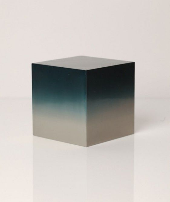 "Miya Ando: Desktop Sculpture, $2,200.Use these desktop sculptures to create a Zen atmosphere in your home or office. Add a little ""spirit"" to your space with these beautifully painted cubes by Miya Ando."