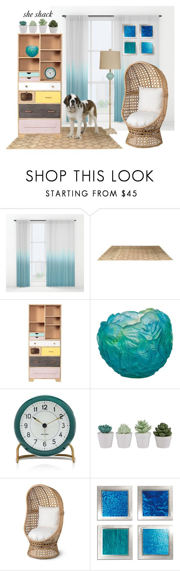 """""""PolyPresents: She Shack"""" by cigoehring ❤ liked on Polyvore featuring interior, interiors, interior design, home, home decor, interior decorating, Daum, Carl Mertens, Improvements and Frontgate"""